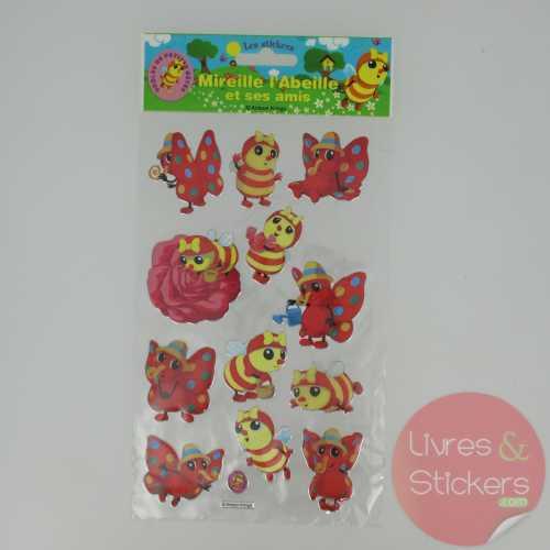 Stickers Silver Mireille l'abeille et ses amis 2/3