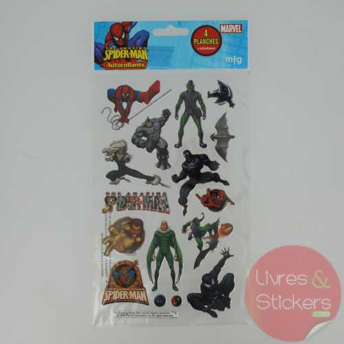 Stickers Silver The amazing Spider-Man 4/4