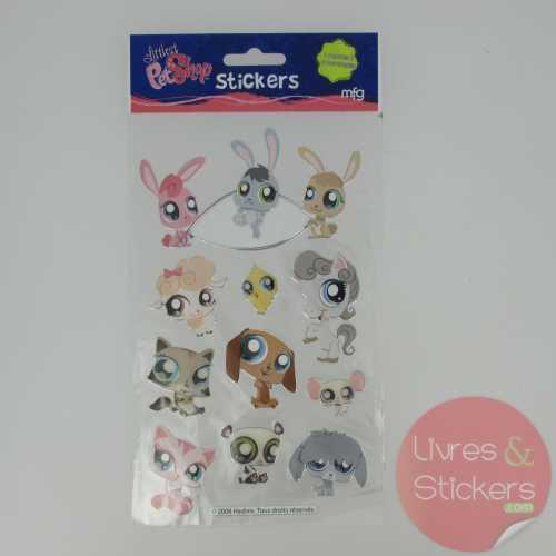 Stickers Silver Littlest PetShop 1/4