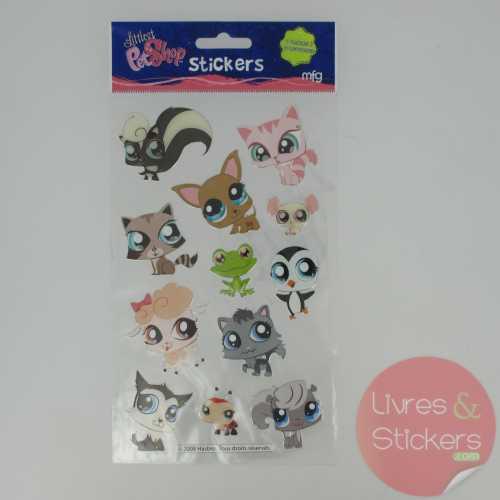 Stickers Silver Littlest PetShop 4/4