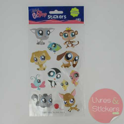 Stickers Silver Littlest PetShop 3/4