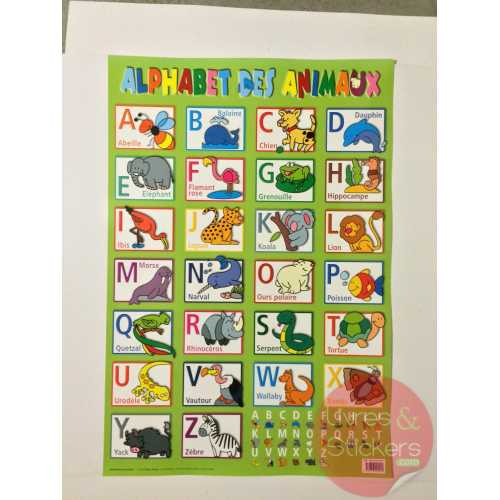 Posters éducatifs - L'alphabet des animaux