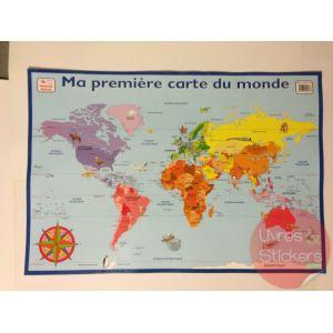 Posters éducatifs - Ma première carte de monde