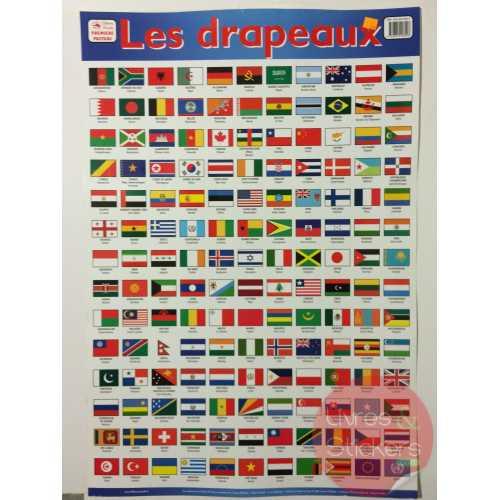 Posters éducatifs - Les drapeaux