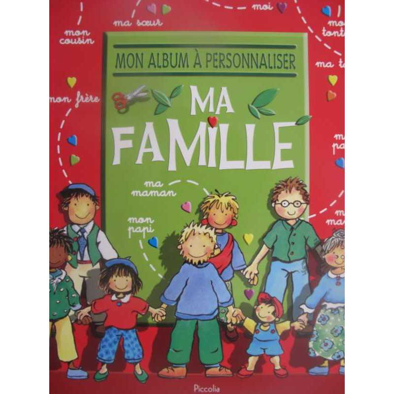 Mon album à personnaliser ma famille