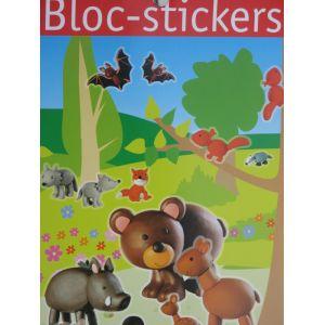 Bloc stickers + de 200 stickers La fôret