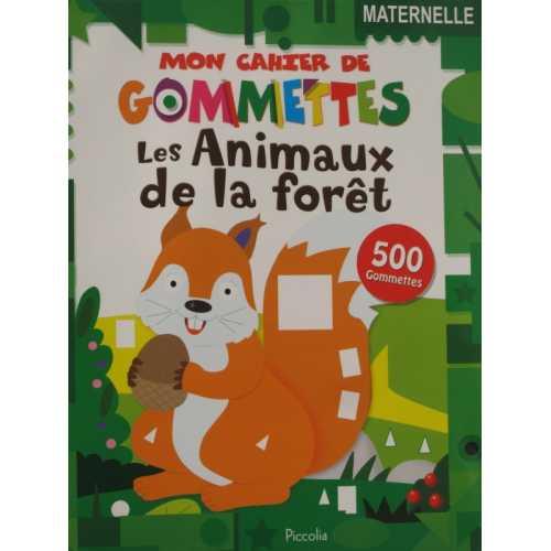 Mon cahier de gommettes les animaux de la forêt