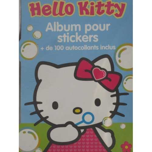 Hello kitty album pour stickers + de 100 autocollants