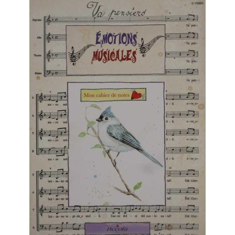 Mon cahier de notes émotions musicales