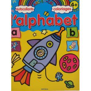 L'alphabet autocollants et coloriages 4 ans et +