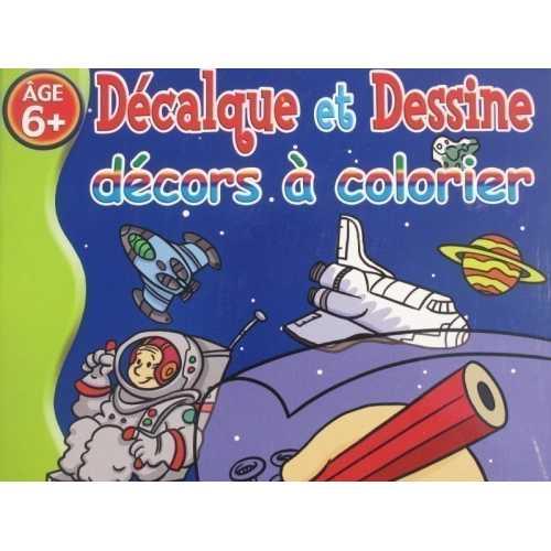 Décalque et dessine décors à colorier 6 ans et +