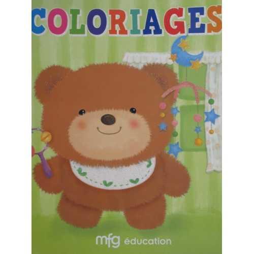 Coloriage ourson vert avec model