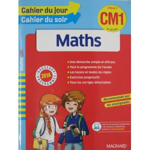 Maths cahier du jour cahier du soir CM1 9-10 ans
