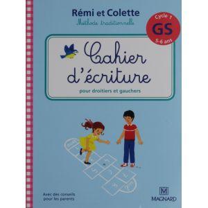 Rémi et Colette cahier d'écriture pour droitiers et gauchers