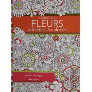 Carnet de fleurs antistress à colorier