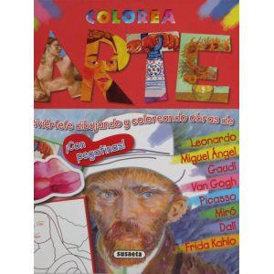 Colorea Arte con pegatinas!