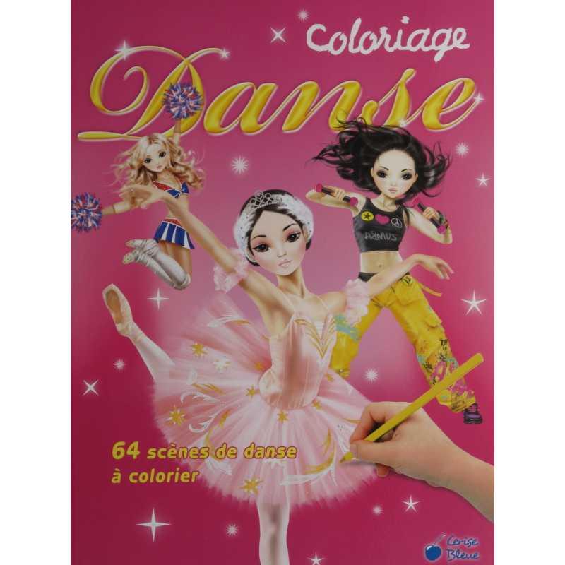 Coloriage danse livres et stickers - Coloriage danse ...
