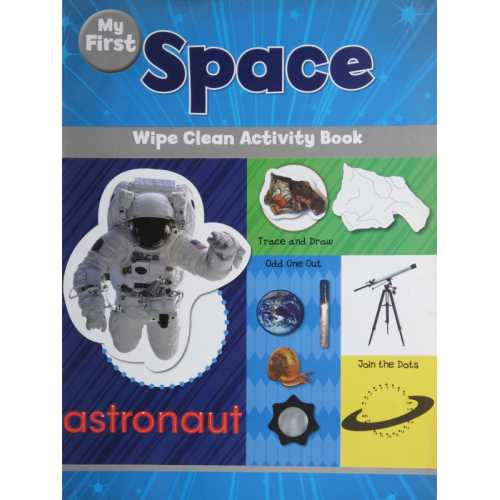 Space wipe clean activity book