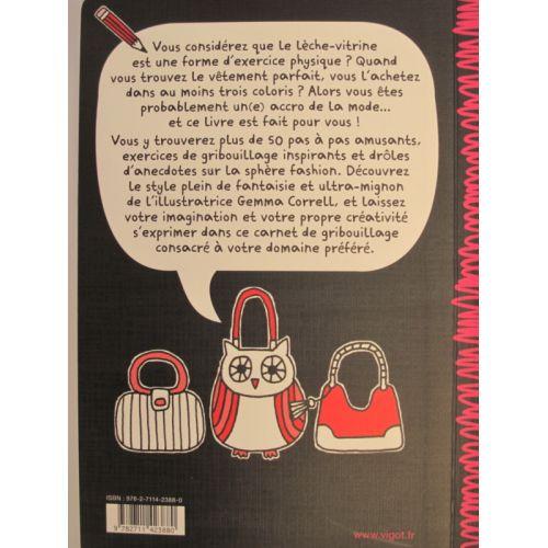 Les accro(c)s de la mode. Carnet de gribouillage. Gemma Correll.