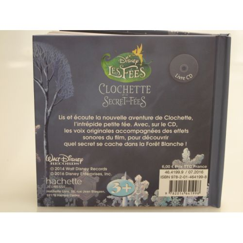 Disney les fées, Clochette et le secret des fées. Livre cd.