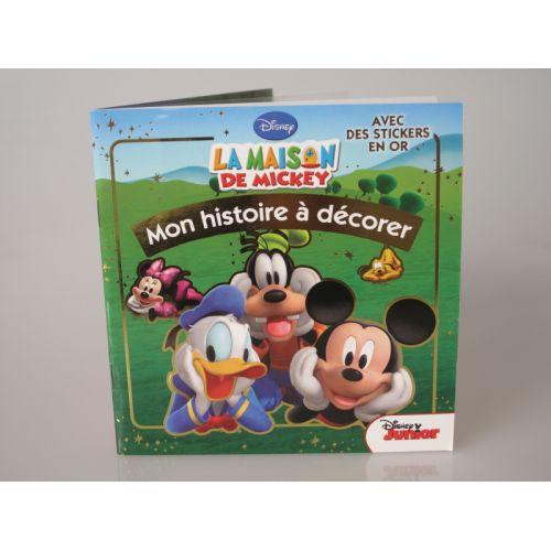 Mon histoire à décorer. Disney, la maison de Mickey avec des stickers en or.