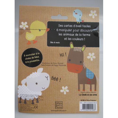 Cartes d'éveil. La vache et ses amis. Collection Ribambelle. A accrocher à la chaise de bébé, à la poussette...