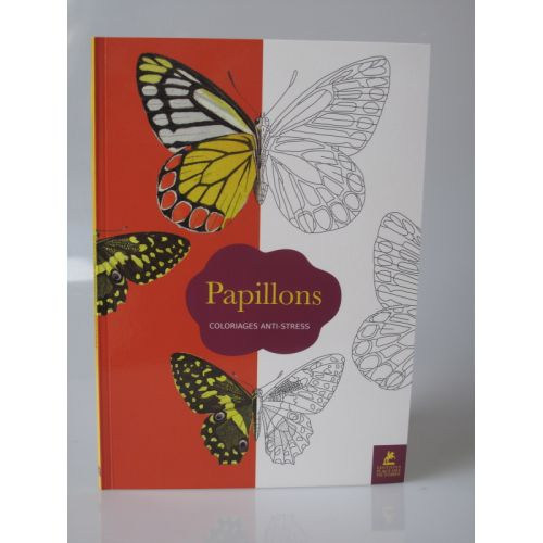 Papillons, coloriages anti-stress.