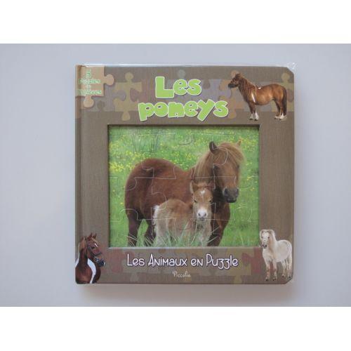 Les poneys. Les animaux en puzzle, 5 puzzles de 12 pièces.