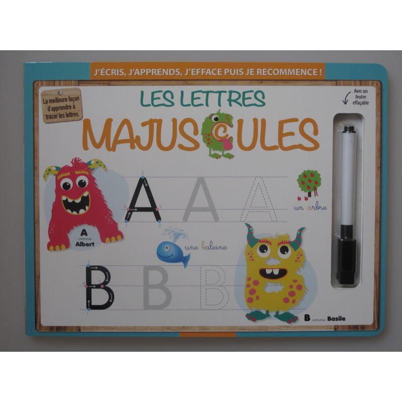 Les lettres Majuscules. J'écris, j'éfface puis je recommence!