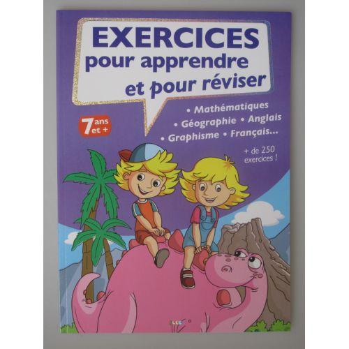 Exercices pour apprendre et pour réviser. 7 ans et +. Maths, géo, anglais, francais ect..
