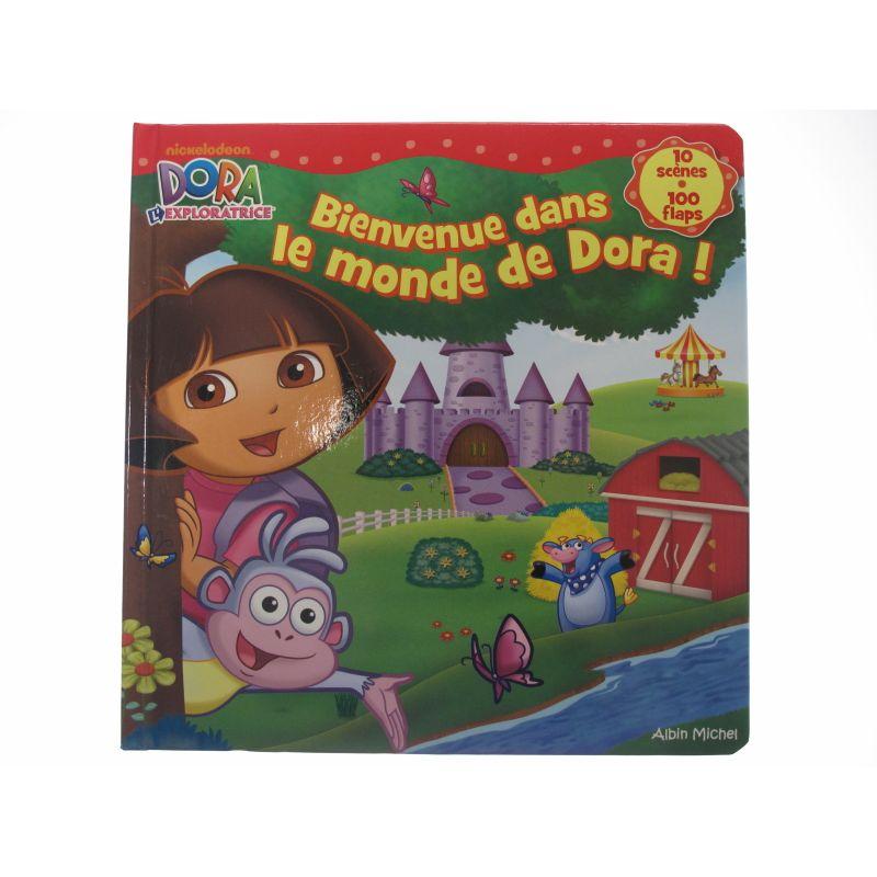 Bienvenue dans le monde de Dora! 10 scènes 100 flaps.