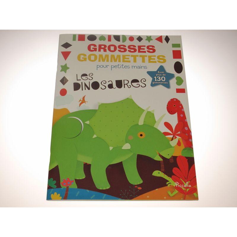 GROSSES GOMMETTES pour petites mains les dinosaures. Plus de130 gommettes..