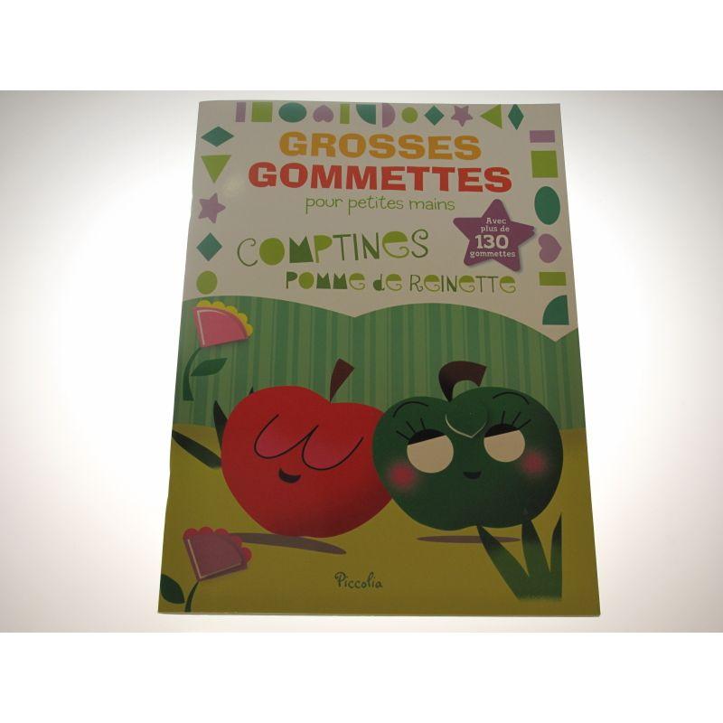 GROSSES GOMMETTES pour petites mains comptines pomme de reinette. Plus de 130 gommettes..