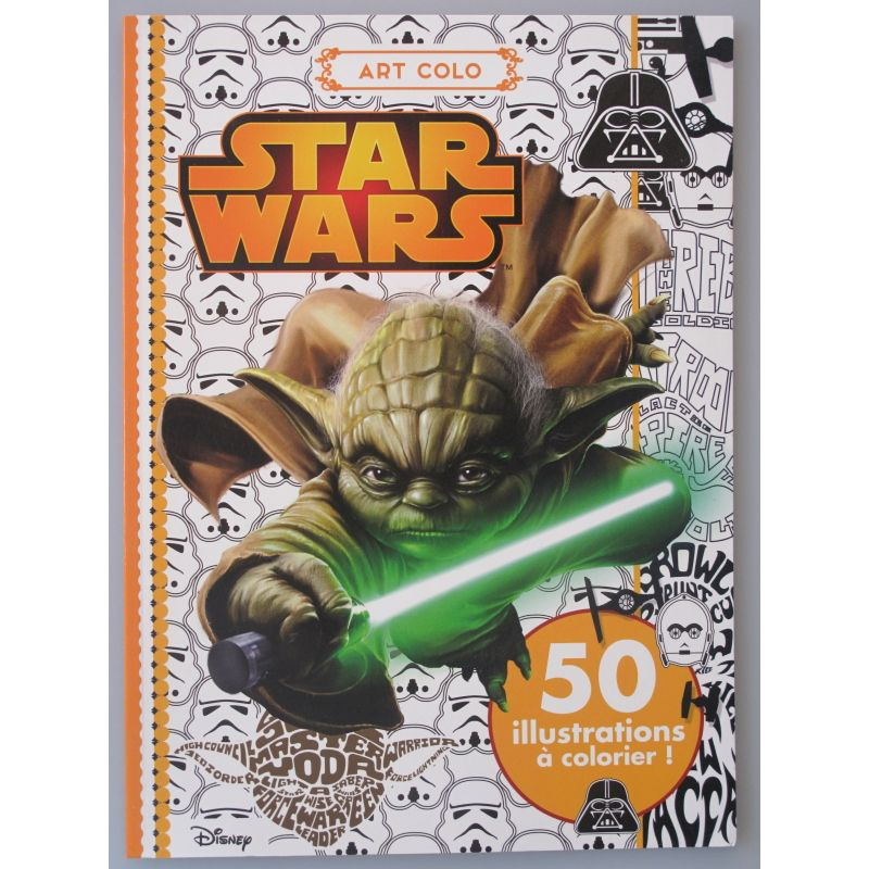 Star Wars art colo 50 illustrations a colorier.