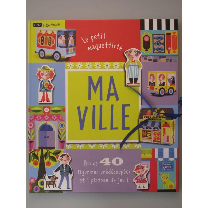 Ma ville. Le petit maquettiste, plus de 40 figurines prédécoupées et 1 plateau de jeu.